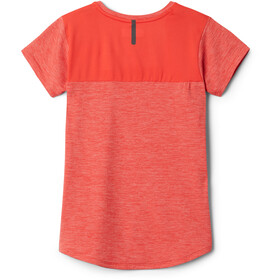Columbia Tech Trek T-shirt Meisjes, bright poppy heather